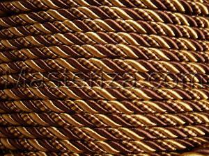 Шнур витой. Цвет (коричневый/горчичный)