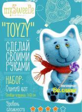Синий кот. Размер - 7 х 13 см.