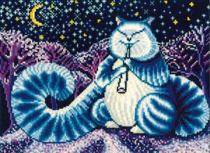 Лунный кот. Размер - 28 х 20 см.