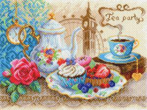 Время пить чай. Размер - 40 х 30 см.