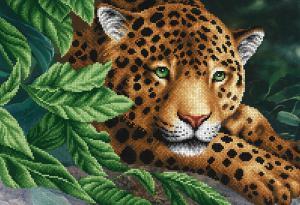 Леопард на отдыхе. Размер - 39 х 27 см.
