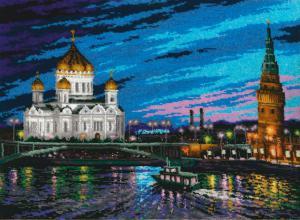 Золотые ручки | Вечерняя Москва. Размер - 51 х 37 см.