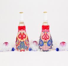 """Матрёнин Посад   Фартук на бутылку """"На счастье"""""""