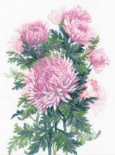 Риолис | Букет хризантем. Размер - 30 х 40 см