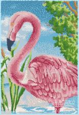 Розовый фламинго. Размер - 25 х 36 см.