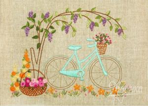 Маричка | Велосипедная прогулка. Размер - 24 х 17 см.