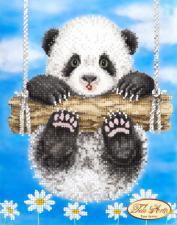Ромашковая панда. Размер - 17 х 22 см.