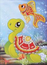 Радуга бисера (Кроше) | Обитатели глубин. Размер - 10 х 15 см