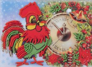 Радуга бисера (Кроше) | Скоро Новый год! Размер - 15 х 10 см