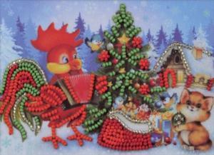 Радуга бисера (Кроше) | Новогодняя ёлочка. Размер - 15 х 10 см