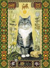 """Кот из созвездия """"Телец"""". Размер - 18 х 24 см."""
