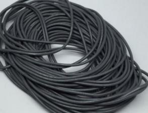 Кожаный шнур. Цвет (тёмно-серый).