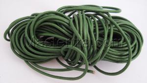 Кожаный шнур. Цвет (зелёный).