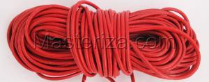 Кожаный шнур. Цвет (красный).