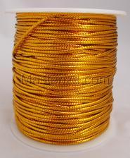 Шнур декоративный круглый. Толщина-2 мм,1 метр,золото