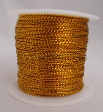 Шнур декоративный круглый. Толщина-1 мм,1 метр,золото