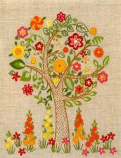 Цветущее дерево. Размер - 17 х 22 см.