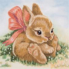 Крольчонок. Размер - 9 х 9 см.