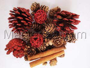 Набор декоративных украшений (красный).