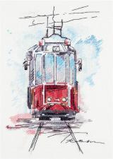 Панна | Городской трамвай. Размер - 17 х 25 см.