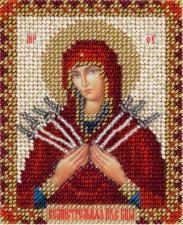 Панна | Икона Божией Матери Семистрельная. Размер - 8,5 х 11 см.
