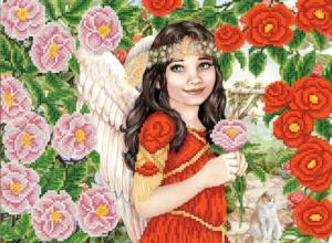 Ангельские розы. Размер - 35 х 26 см.