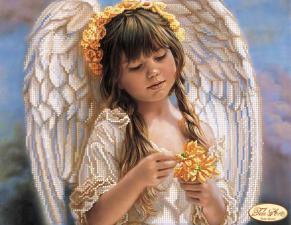 Маленький ангел. Размер - 31 х 24 см.