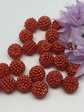 Бусина Шамбала. Цвет (красно-оранжевый).