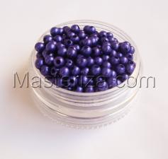 Бусины под жемчуг,4 мм,цвет (фиолетовый).