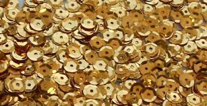 Пайетки круглые. Цвет (золото).