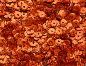 Пайетки круглые. Цвет (красно-оранжевый перламутр).