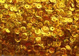 Пайетки круглые. Цвет (золото перламутр).