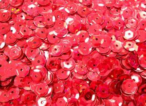 Пайетки круглые. Цвет (красный).