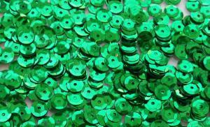 Пайетки круглые. Цвет (зелёный).