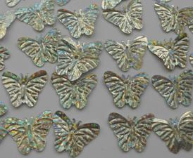 Бабочка (серебро голография).