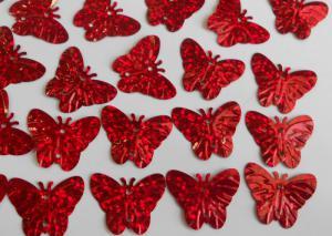 Бабочка (красный голография).