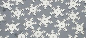 Снежинка (серебро). Размер - 18 мм.