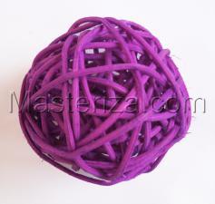 Ротанговый шар (фиолетовый).