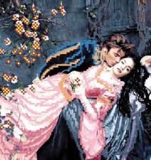 Ромео и Джульетта. Размер - 22 х 25 см.