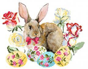 Пасхальный кролик. Размер - 34 х 28 см.