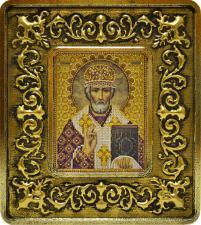 Св. Николай Чудотворец (лилии золото).