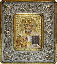Св. Николай Чудотворец (лилии серебро).