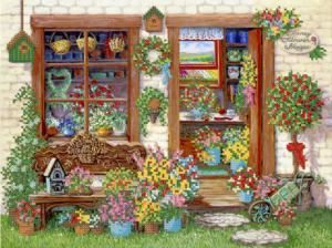 Цветочный магазин. Размер - 35 х 26 см.