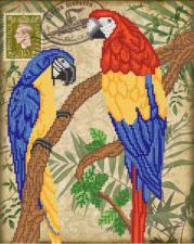 Птицы южных широт. Размер - 26 х 33 см.