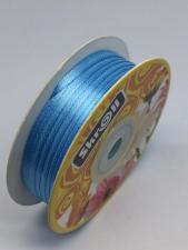 Лента атласная Skroll,3 мм,цвет№ 62 (голубой)