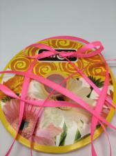 Лента атласная Skroll,6 мм,цвет№ 05 (неоновый розовый)