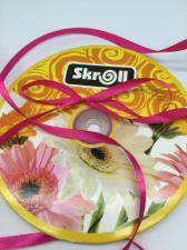 Лента атласная Skroll,6 мм,цвет№ 14 (малиновый)