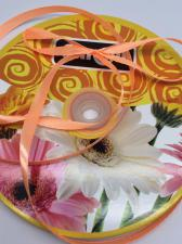 Лента атласная Skroll,6 мм,цвет№ 22 (светло-оранжевый)