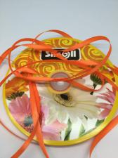 Лента атласная Skroll,6 мм,цвет№ 25 (тёмно-оранжевый)