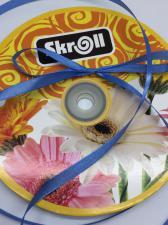 Лента атласная Skroll,6 мм,цвет№ 36 (синий)